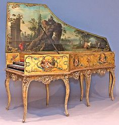 My living room needs this.  Harpsichord by Andreas Ruckers, Antwerp, 1643, at the National Music Museum.