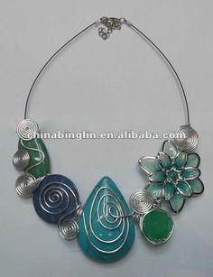 Nuevo de alambre de aluminio collar de lazo, alambre de la moda collar de gargantilla, señora de aluminio collar de alambre-Collares-Identificación del producto:535465827-spanish.alibaba.com