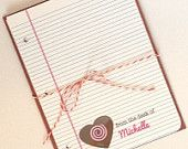Personalized Teacher Valentine Note Cards - Chocolate Heart - PRINTABLE - PDF