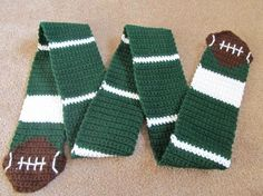 Super Bowl Crocheted Football Scarf – (No instructions; just ...