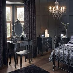 Toulouse Black Bedroom Furniture Collection | Dunelm