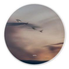 poignée de porte photo oiseaux abstraite