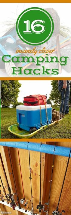 17 Camping Hacks, Tips, & Tricks You'll Wish You Knew Earlier: Hack your camping trips with these clever camping ideas, tips, and tricks. These fun camping ideas take your outdoor adventures to the next level. Plus: discover storage ideas for camping equipment you'll wish you'd been using all along. #canoehacks #KayakStorage #campingequipment #campingtricks #campingstorage #campingadventure #campinghacks