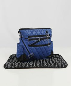 Take a look at this Caramellles Royal Blue The Truffle Diaper Bag by Caramellles on #zulily today! I love this!