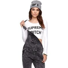 c5e87b3a4962a Married to the Mob Supreme Bitch Cropped Tee (68 BRL) ❤ liked on Polyvore