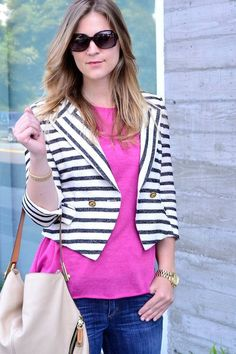 Pink, White & Denim