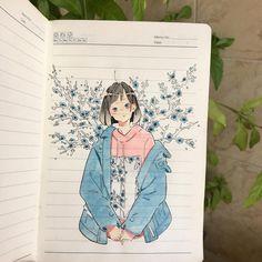 肺臓 肺臓~ Summer is here meaning the watercolor will will dry faster on paper •