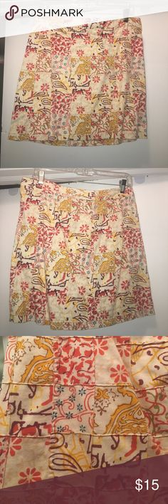 J Crew skirt Really cute pattern!  Love it for summer. Has pockets and belt loops. J. Crew Skirts Mini