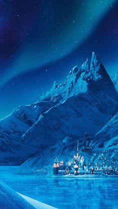 Download wallpaper: http://goo.gl/bS9PSl ac70-wallpaper-elsa-frozen-castle-queen-disney-illust-snow-art via freeios8.com - iPhone, iPad, iOS8, Parallax wallpapers