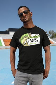fb56029e9 Personalized Fishing T-Shirt Fisherman Trip Bass Fishing Shirt Expedition Tee  Shirt Men's Gift Custom