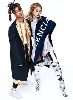 Jaden Smith and Jasmine Sanders for Glamour Magazine