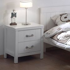 White Bedside Dresser Gloss Cabi 3 Drawer Table Side