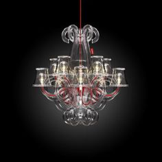 RockCoco LED Chandelier rated so can be used outside in your glamourous garden or even in the Bathroom or Spa Outdoor Chandelier, Glass Chandelier, Pendant Lamp, Chandeliers, Lustre Baroque, Design Baroque, Lampe Edison, Funky Lighting, Contemporary Outdoor Furniture