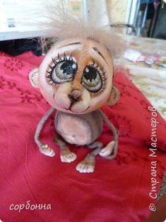 Куклы Шитьё интерьерные куклы обезьянки лягушки ангелочки Ткань фото 3