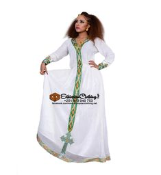 Munit habesha dress handmade Ethiopian traditional dress.