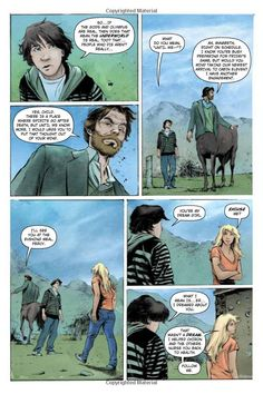 pages from percy jackson and the lightning thief graphic novel