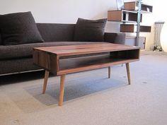 Solid Walnut Low Mid-Century Modern Coffee Table, Walnut. $650.00 USD, via Etsy.