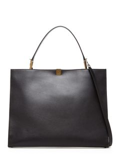 On ideel: BALENCIAGA Large Leather Tote Bag Wow! I love the straight simple lines on this tote!!!