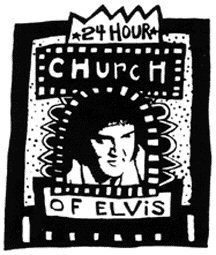24 hour church of elvis.  I have always wanted to go.  someday I'm going to fake get married here.