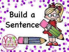 """Help your kids build, read, and write simple sentences using """"can"""" and simple verbs.  This set is color coded so it's easy to differentiate the words.  Included:* I, We, She, He sentence beginners* can pages*18 different simple verbs*color coded word order *color coded sentence writing pages"""