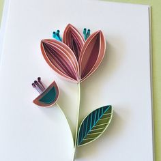Paper Quilling Cards, Paper Quilling Flowers, Origami And Quilling, Quilled Paper Art, Paper Quilling Designs, Quilling Art, Quiling Paper, Quilling Techniques, Paper Artwork