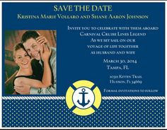 save the date cruise wedding | Passport Save-the-Date for Pascale ...