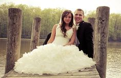 Slavenca and Chris-wedding dock water by Taaffers, via Flickr