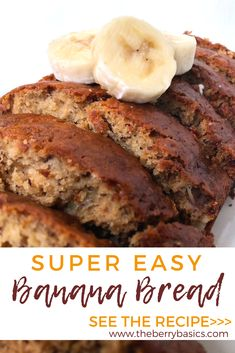 banana bread recipe Click the link to find out how to make this delicious, filling amp; best banana bread recipe from scratch! This recipe has been in my family for years! Easy to make banana nut bread recipe. Healthy Bread Recipes, Banana Bread Recipes, Cooking Recipes, Paleo Bread, Easy Banana Bread Recipe With Brown Sugar, Banana Bread Recipe For 2 Loaves, How To Make Banana Bread Recipe, Crockpot Banana Bread, Homemade Banana Bread