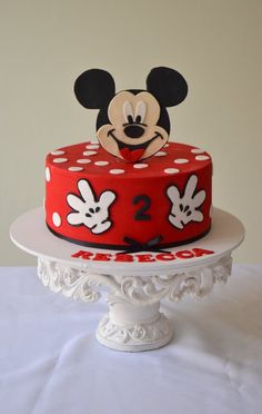 mickey mouse cake. Pretty simple if the Mickey topper can be found ready made!