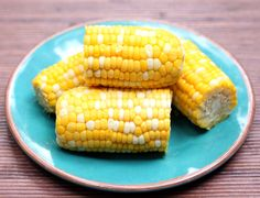 Slow cooker corn on the cob (good because I don't have a big pot or a grill)