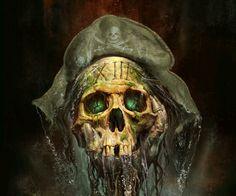 Mystery Case Files: The Skull Pirate Art, Pirate Skull, Pirate Life, Pirate Ships, Black Sails, Grim Reaper, Pirates Of The Caribbean, Skull And Bones, Horror Art