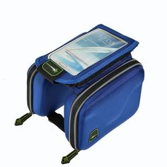 f3c40ba553 RockBros Cycling Bike Frame Bag Pannier fit 5.5 in Phone Holder Bicycle Bag  Blue ( 122026028651) for  7.50