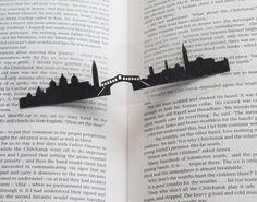 Venice Skyline papercut Bookmark