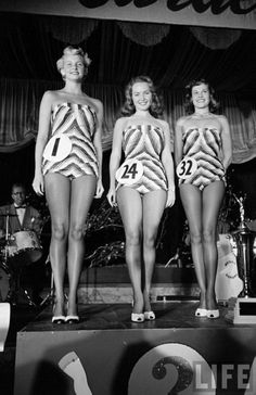 Beautiful Legs Contest, 1949. Photo by Alfred Eisenstaedt