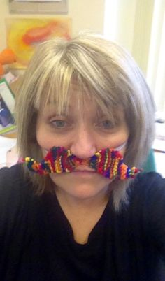 Knitted moustache as you do