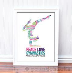 Gymnastics Print - Custom Typography Prints - Personalized Gymnastics Gift – PrintChicks