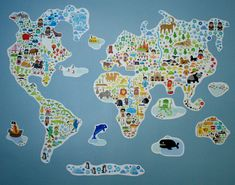 Project Nursery - Pop & Lolli World Map Wall Decal - Project Nursery
