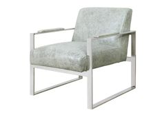 LEVER LOUNGE CHAIR  VINTAGE GREIGE: TOP GRAIN LEATHER: CHROME FRAME    Dimensions 24 X 29 X 28H