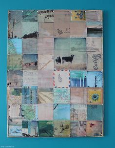 travel photo quilt.  photo transfers to fabric