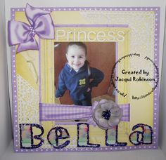 Hybrid Scrapbook page using Dragons Lair Designs O Baby Mine Kit a Tattered Lace corner die and an Alphabet die with Chloe glitter