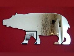 animal mirror stickers for wall decorating