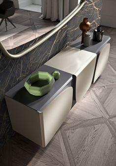 Modern sideboard Armor by Ozzio Italia Sideboard Decor, Modern Sideboard, Sideboard Cabinet, Cabinet Furniture, Furniture Design, Shoe Cabinet, Credenza, Office Table Design, Dressing Table Design