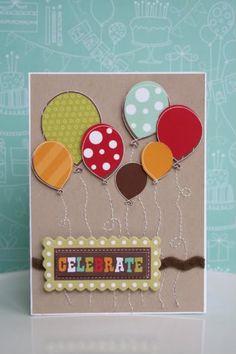 """Celebrate"" card by Shari Thurman"