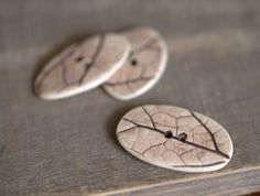 Three woodland porcelain buttons. by peifferStudios on Etsy