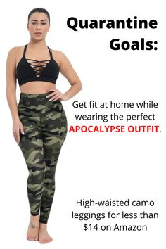 Gayhay High Waisted Leggings for Women - Soft Opaque Slim Tummy Control Printed Pants for Running Cycling Yoga Quick Easy Workouts, Run Cycle, Camo Leggings, Fat Burning Workout, Want To Lose Weight, Workout For Beginners, Printed Pants, Fitness Goals, Apocalypse