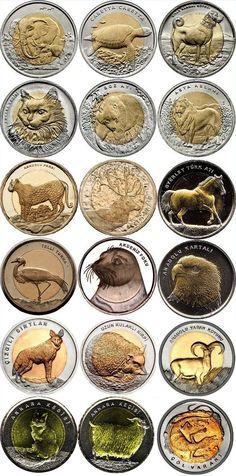 Turquía emite nuevas monedas bimetálicas de animales