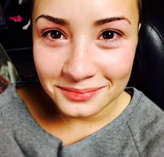 Demi Lovato with tears in her eyes