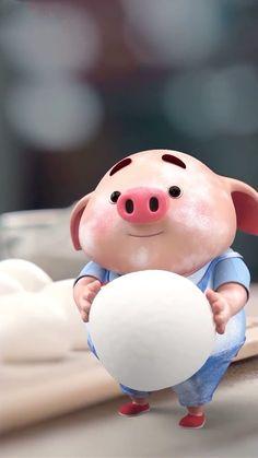 Pig Wallpaper, Cute Piglets, Wonder Art, Pig Illustration, Animated Dragon, Funny Pigs, Baby Pigs, Cute Birds, Little Pigs