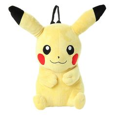 Pokemon Pikachu Plush Backpack Hot Topic ($15) ❤ liked on Polyvore featuring bags and backpacks