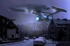 The USS Enterprise in your town and your time #scifi #mashup #startrek